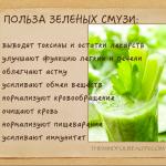 О пользе зеленых смузи