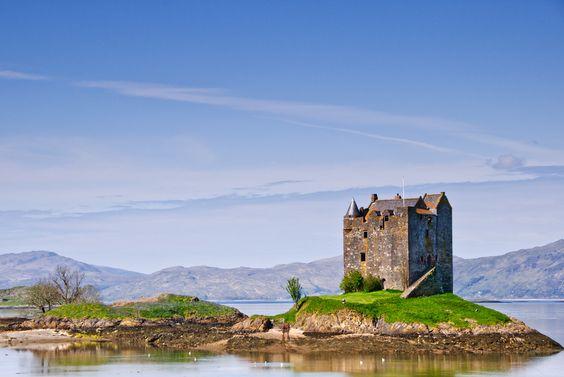 Castle Stakler inScotlands western highlands.