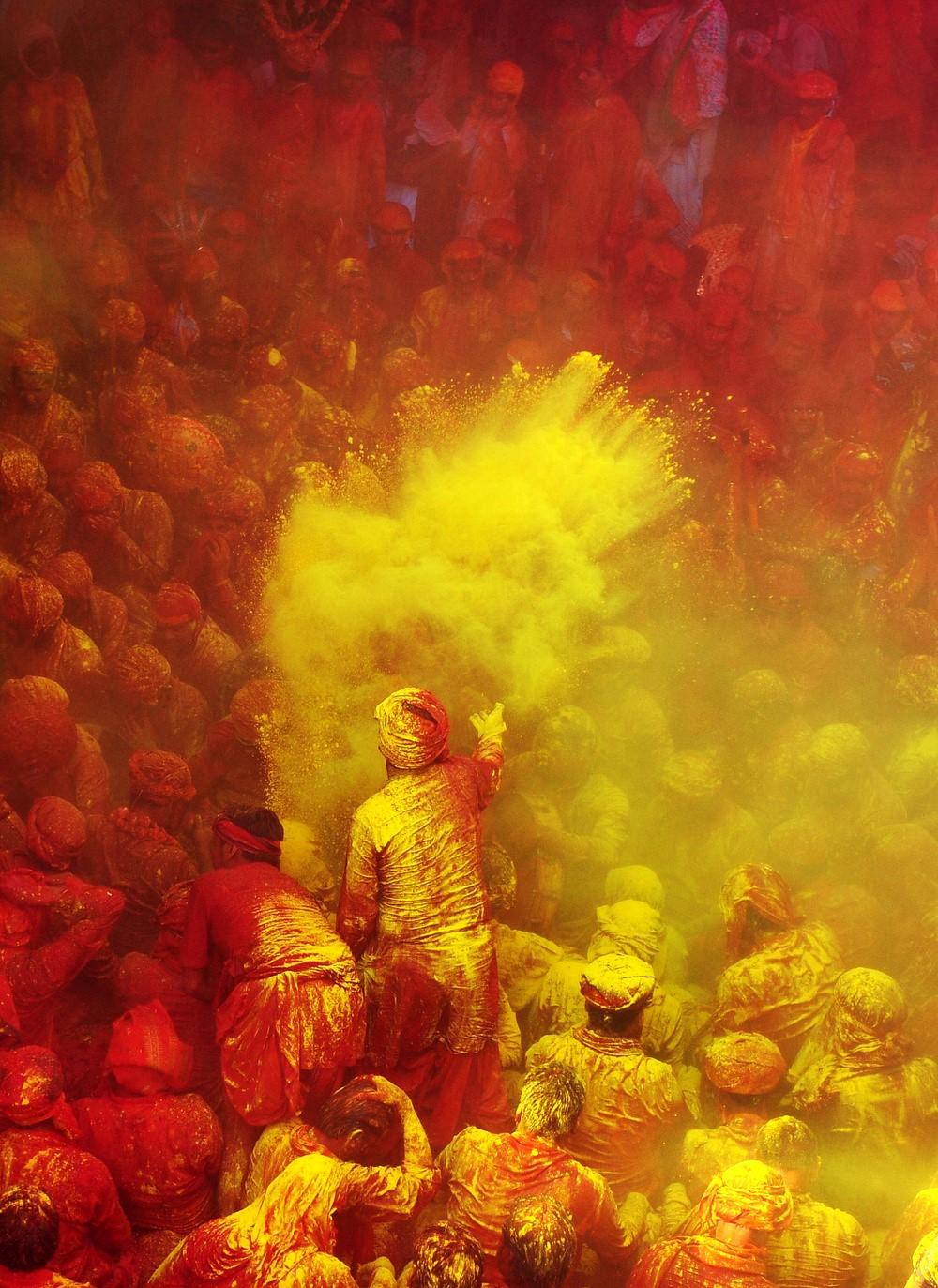 جشن رنگها در هند AFP Sanjay Kanojia