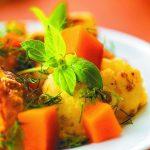 Рецепт из тыквы с соусом Альфредо и жареной цветной капустой
